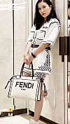 FENDI WHITE SHOPPER